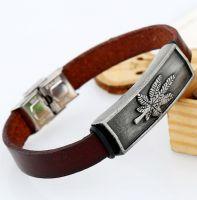 Кожаный браслет Grass