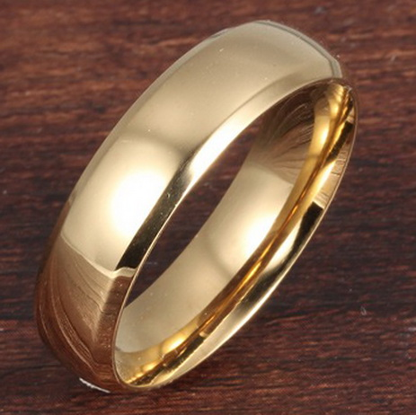 Обручальное кольцо позолоченное